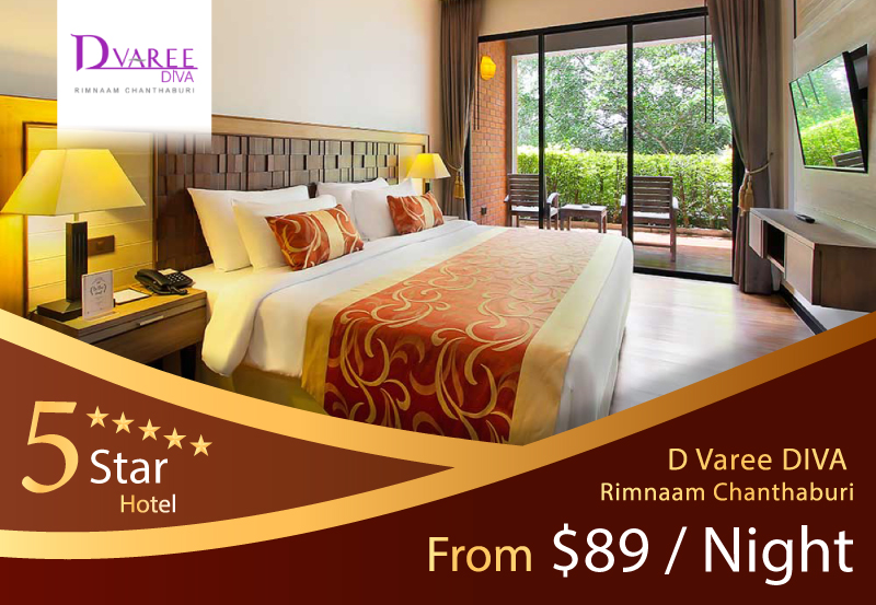 D Varee DIVA Rimnaam Chanthaburi - A special price from AM Holiday Travel. Only $89 / Night at D Varee DIVA Rimnaam Chanthaburi, an elegant riverside hotel in the heart of Chanthaburi