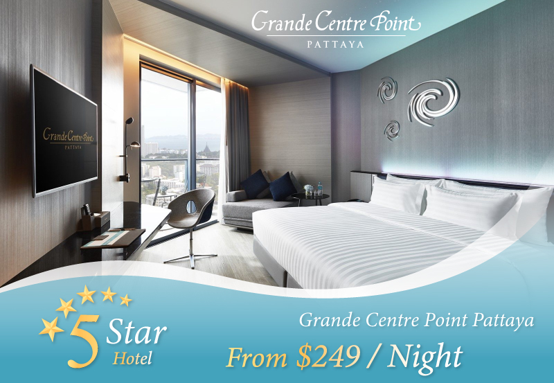 Grande Centre Point Pattaya - Discover new experiences at Grande Centre Point Pattaya with an exclusive package from AM Holiday Travel. Starting at only $249 / night.