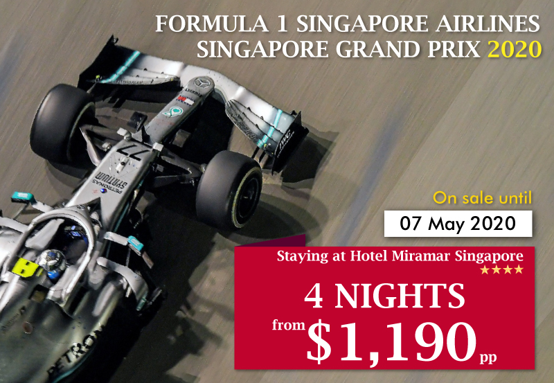 Formula 1 Singapore Airlines Singapore Grand Prix 2020 - 4 Nights