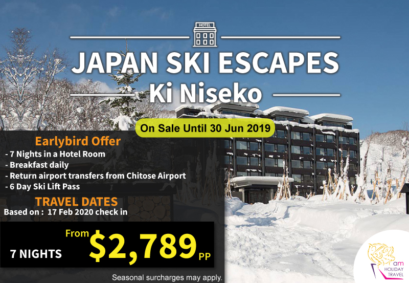Japan Ski Escapes - Special price from AM Holiday Travel at Ki Niseko Hotel 7 nights starting at only $2,789. It's the ideal accommodation for your revitalizing winter adventure or summer sojourn.